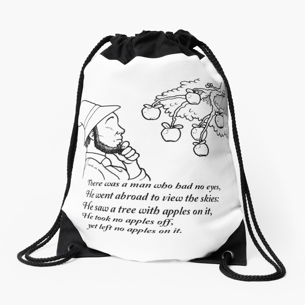 There was a Man with No Eyes... Drawstring Bag