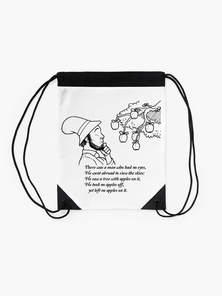 Alternate view of There was a Man with No Eyes... Drawstring Bag