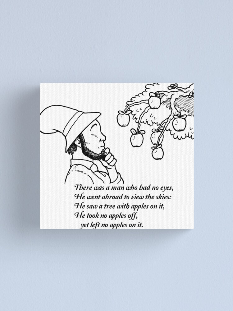 Alternate view of There was a Man with No Eyes... Canvas Print