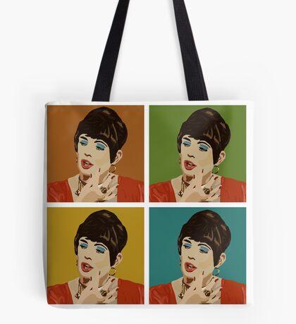 Beautiful Lips (Warholed) Tote Bag