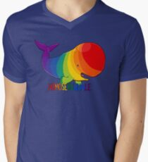 Homosexuwhale - with text Men's V-Neck T-Shirt