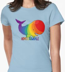 Homosexuwhale - with text Women's Fitted T-Shirt