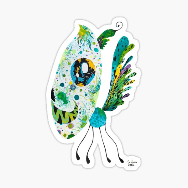 I don't know what It is, what do you see flower, Lion, Butterfly, an insect,  Sticker