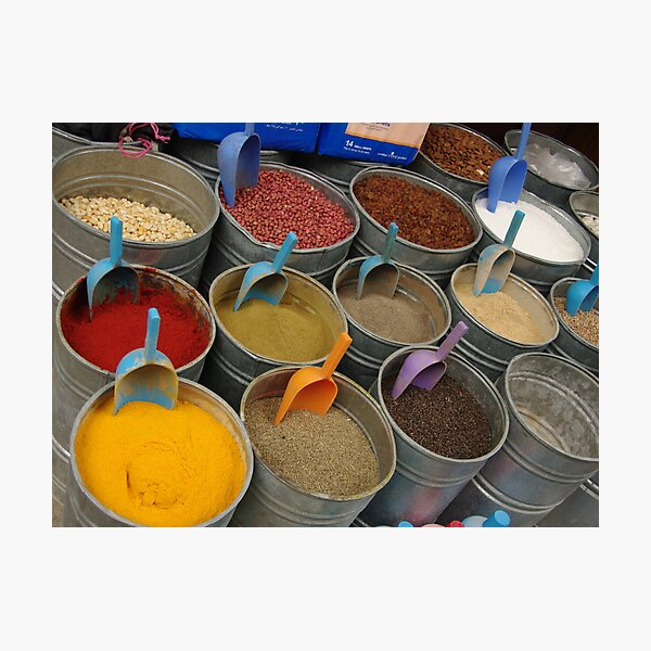 Spices - Old Souk, Fez, Morocco Photographic Print