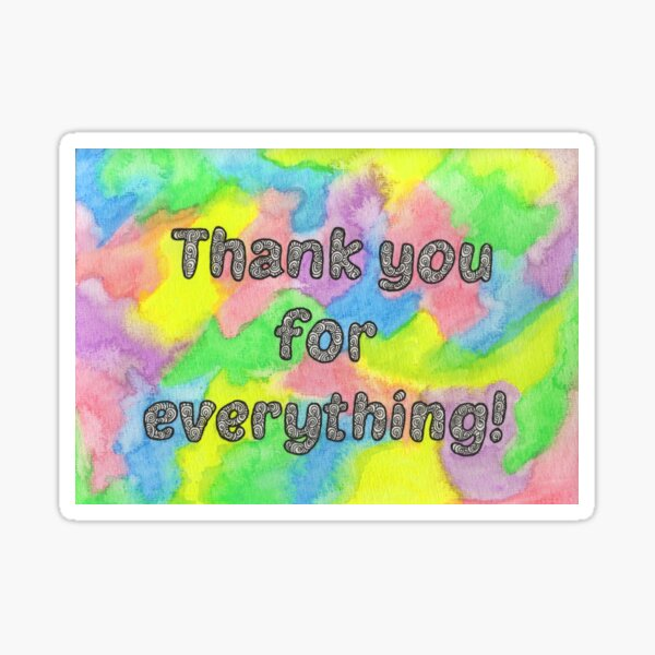 Doodle Thank You Card Sticker
