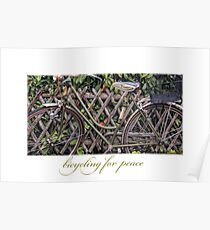 Bicycling for Peace Poster