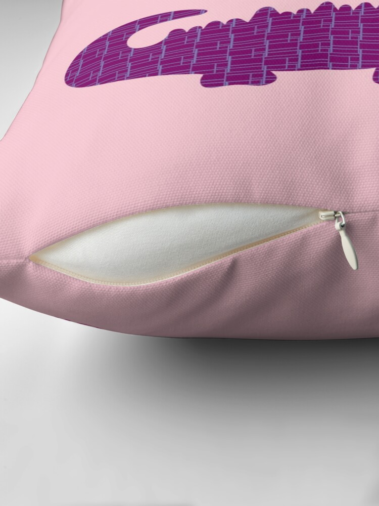Alternate view of LATER ALLIGATOR - Violet Throw Pillow
