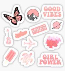 Pastellkorallenrosa Packung Sticker