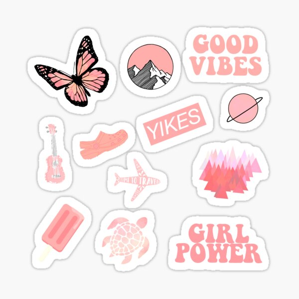 Pastel Coral Pink Pack Sticker