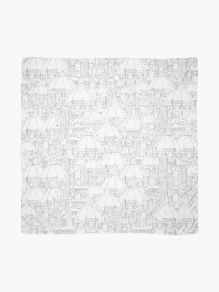 Alternate view of The Florence Cathedral The Duomo pencil drawing pattern  Scarf