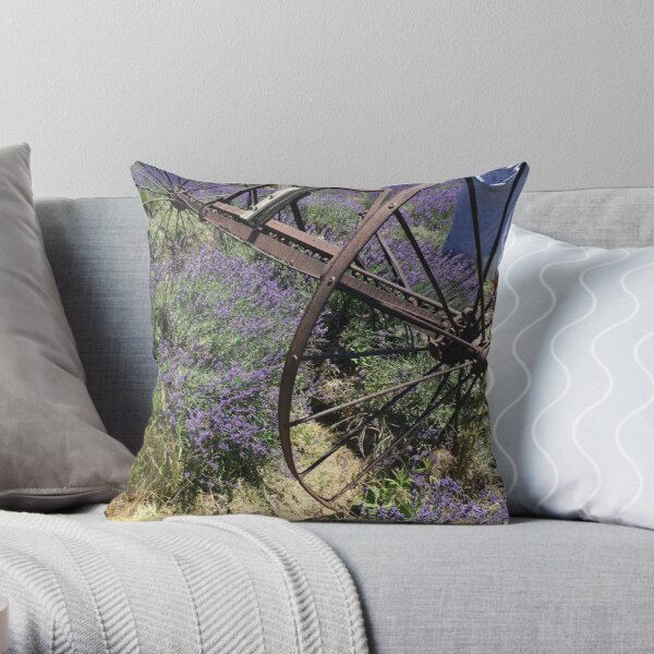 Lavender in summer time Throw Pillow