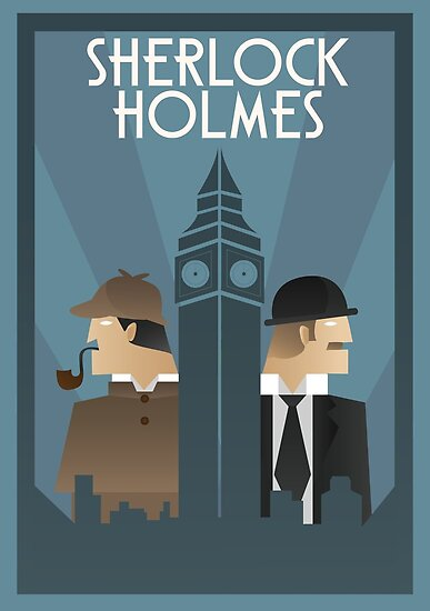 Quot Sherlock Holmes Art Deco Quot Posters By Whitebalanced