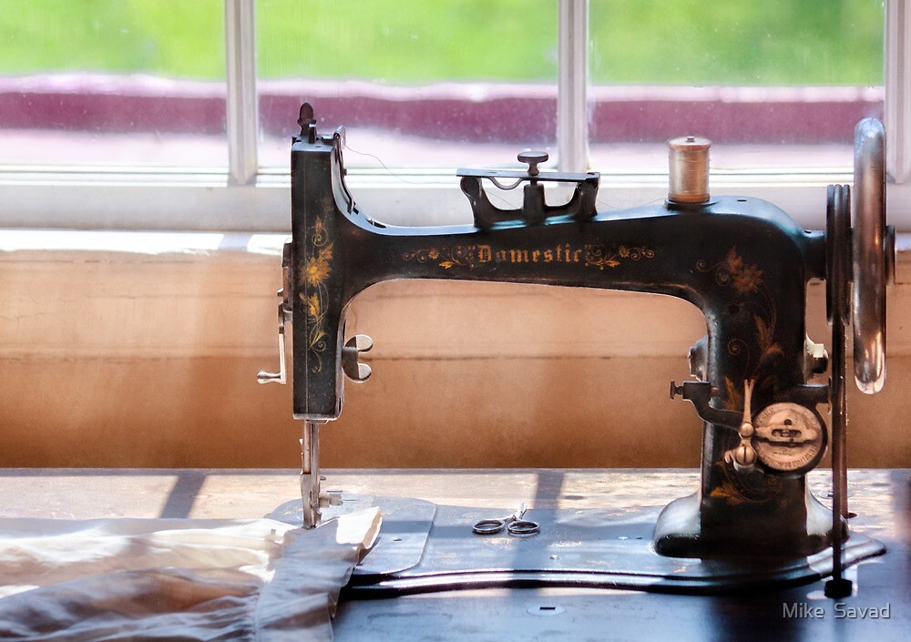 Sewing Machine - A stitch in time by Michael Savad