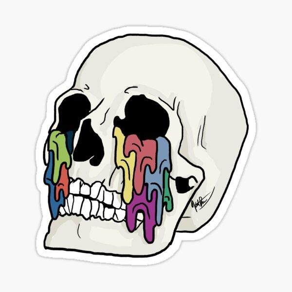 Crâne inspiré auto-titré Sticker