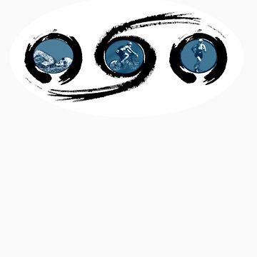 tri zen sticker by kathrynmp