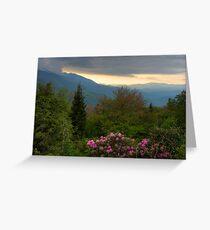 Mountain Evening Greeting Card