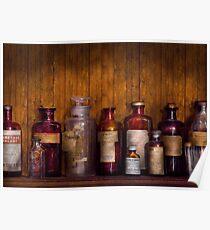 Pharmacy - Liniment, Lozenges, & Antiseptic Poster