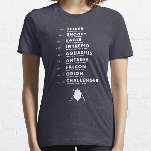 List of Apollo Lunar Modules Essential T-Shirt