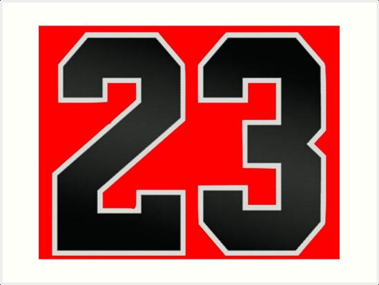 "Michael Jordan Number 23 Logo: ""Jordan 23"" Art Print By Tragiclucas"
