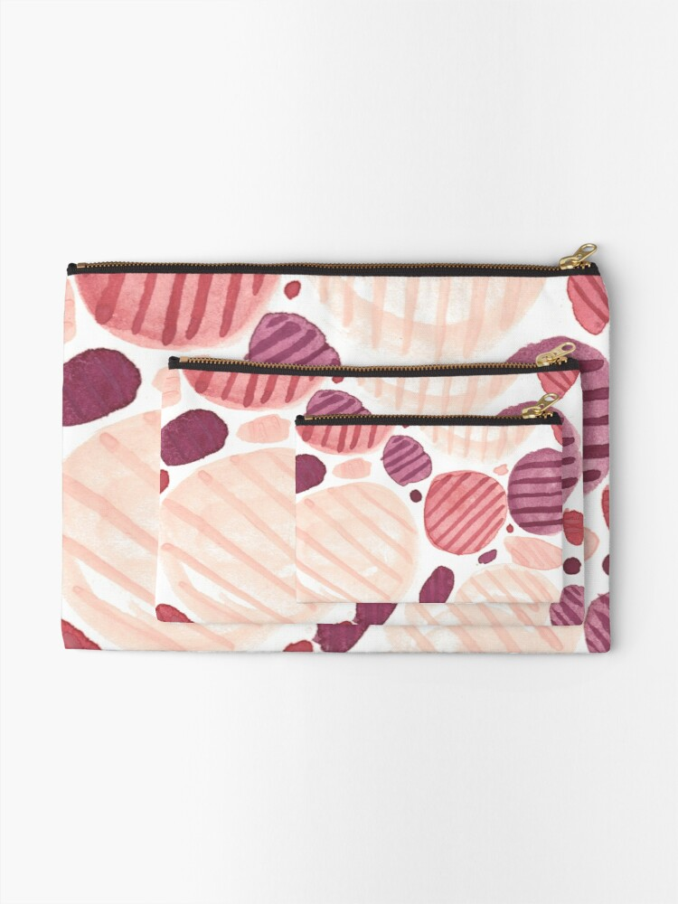 Alternate view of Pebbly Zipper Pouch