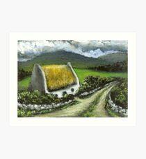 Thatched Irish cottage Art Print
