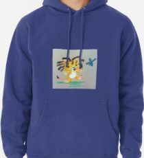 Lion Cub catches Butterfly Pullover Hoodie