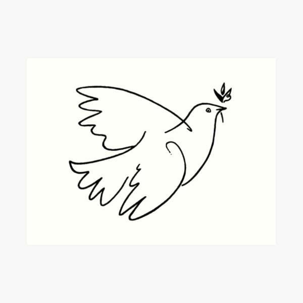 Dove of Peace by Picasso Art Print
