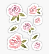 Kleine rosa Rosen ~ Sticker Set Sticker