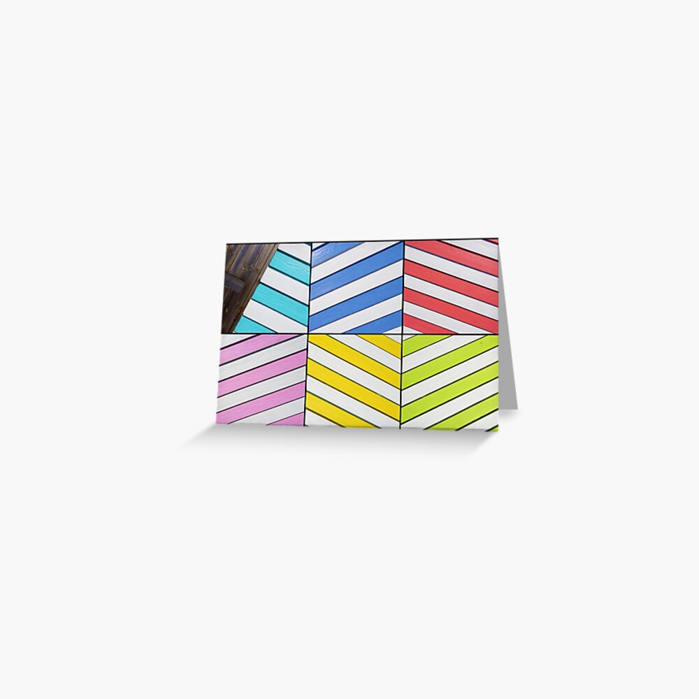 Pier Beach Huts Greeting Card
