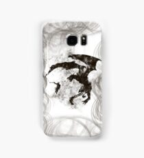 Dragonfight-cooltexture B&W Samsung Galaxy Case/Skin