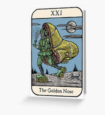 The Golden Nose Greeting Card