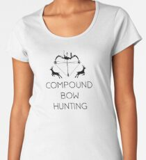 Compoundbogen Jagd Frauen Premium T-Shirts