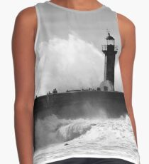 Lighthouse in stormy ocean Sleeveless Top