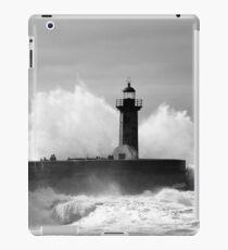 Lighthouse in stormy ocean iPad Case/Skin