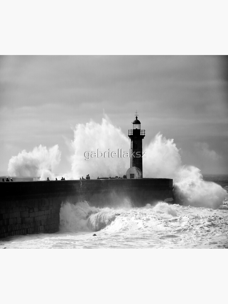 Lighthouse in stormy ocean by gabriellaksz