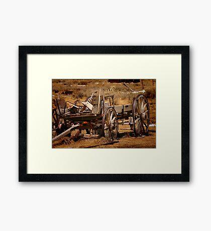 Old Wagon Framed Print