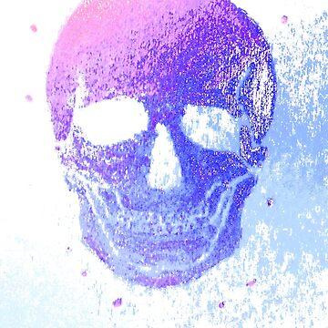 grinning Skull, colorful II von mwart
