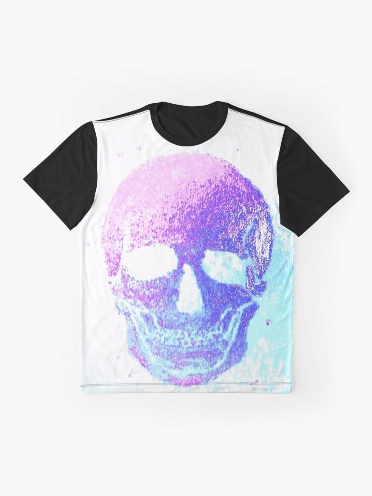 Alternative Ansicht von grinning Skull, colorful II Grafik T-Shirt