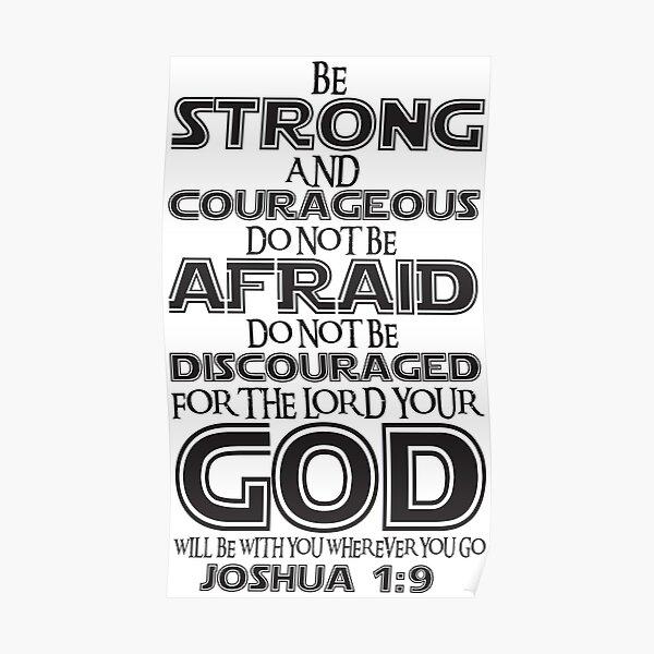 Josué 1: 9 Poster