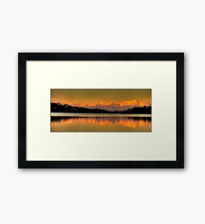 Mirror - Narrabeen Lakes, Sydney - The HDR Experience Framed Print