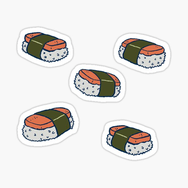 Spam Musubi Sushi Pattern Sticker