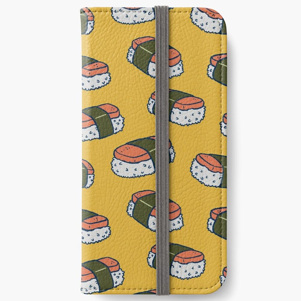 Spam Musubi Sushi Pattern iPhone Wallet