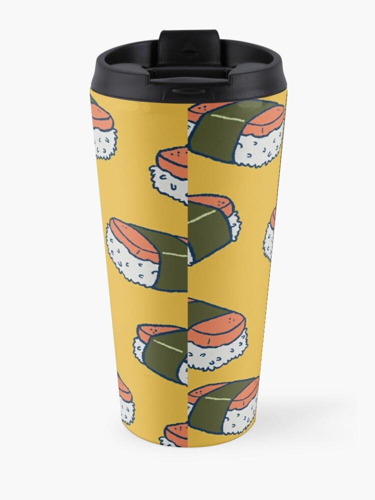 Alternate view of Spam Musubi Sushi Pattern Travel Mug