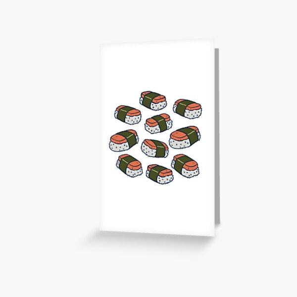 Spam Musubi Sushi Pattern Greeting Card