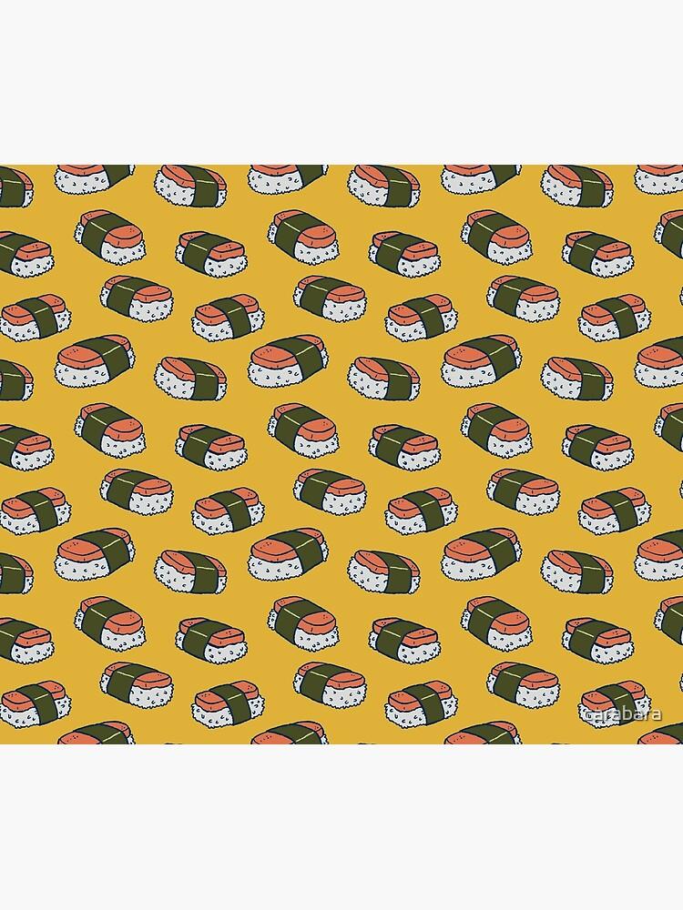 Spam Musubi Sushi Pattern by carabara