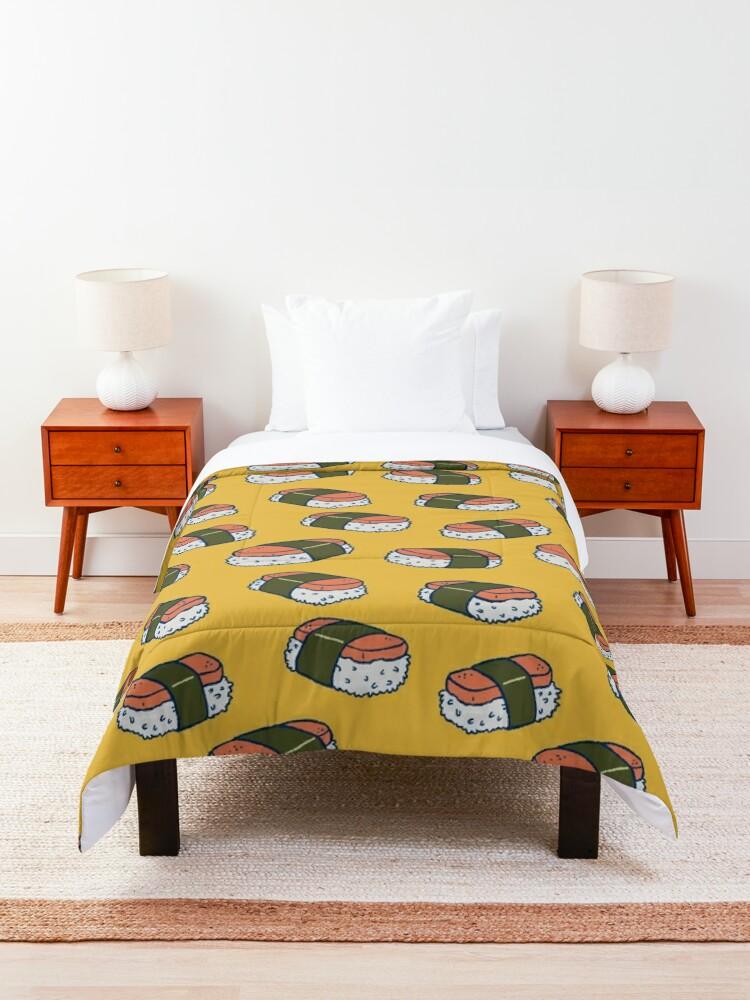 Alternate view of Spam Musubi Sushi Pattern Comforter