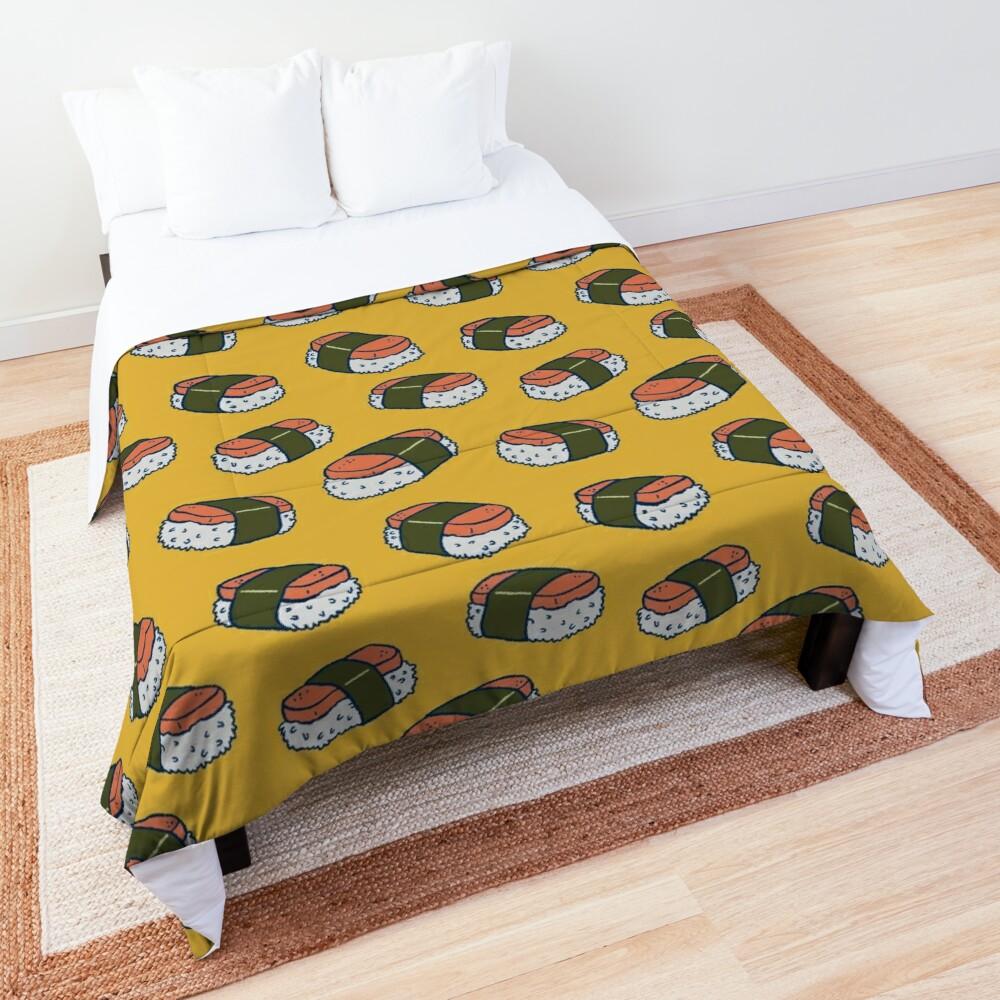 Spam Musubi Sushi Pattern Comforter