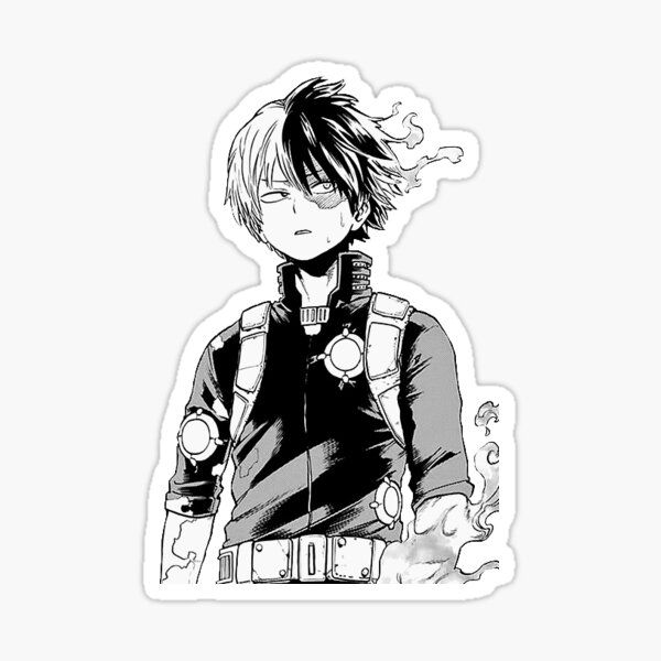 Todoroki enflammé Sticker