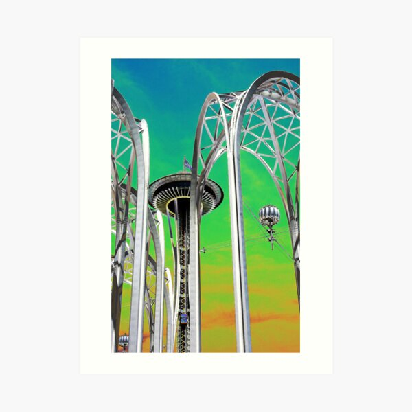In Front Of The Space Needle. Art Print