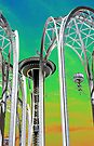 In Front Of The Space Needle. by Todd Rollins